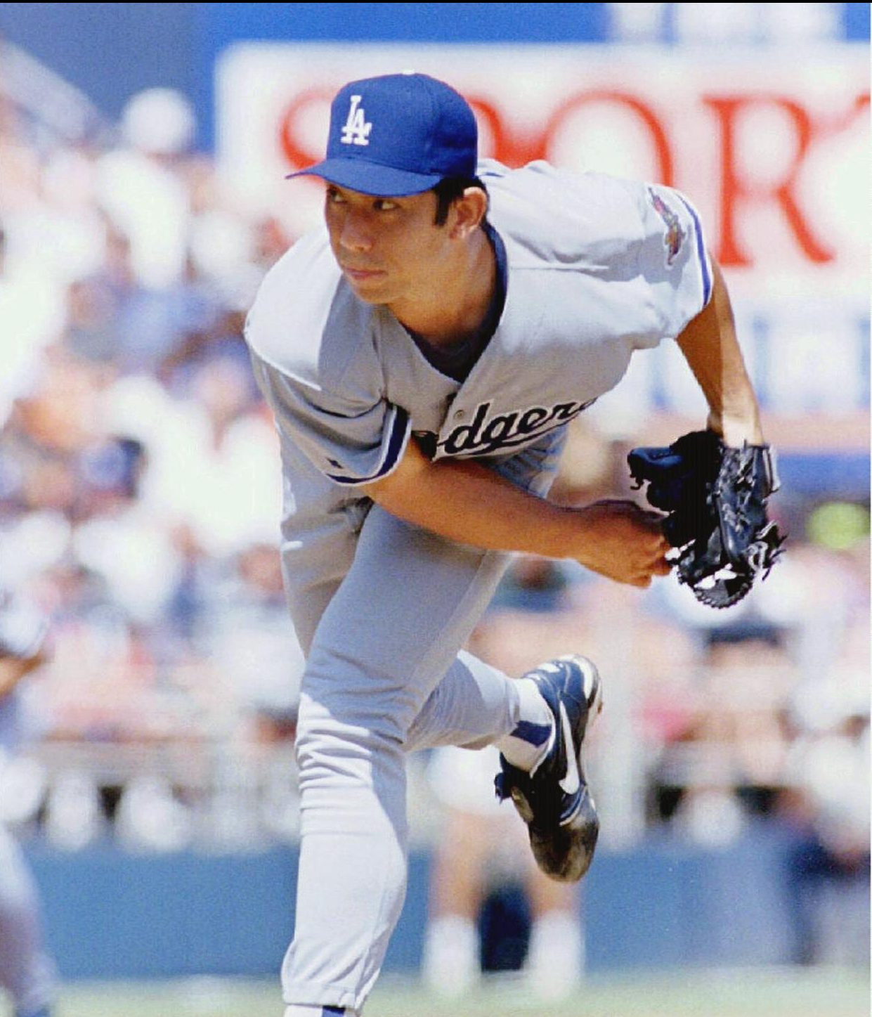 Baseball MLB Nomo Los Angeles Dodgers 002