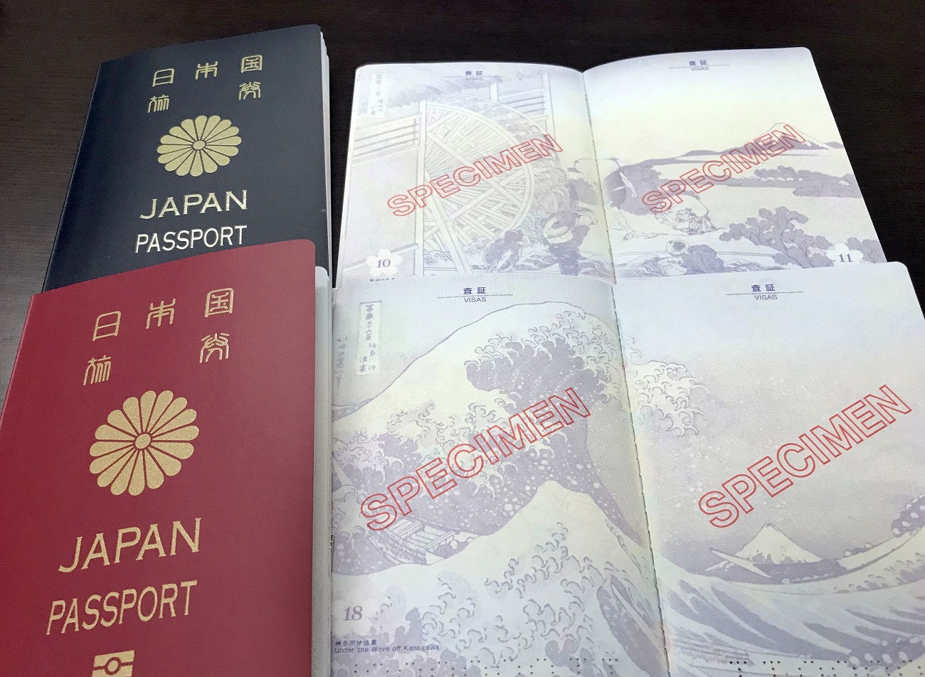 6.Hokusai great wave in Japan's new passport