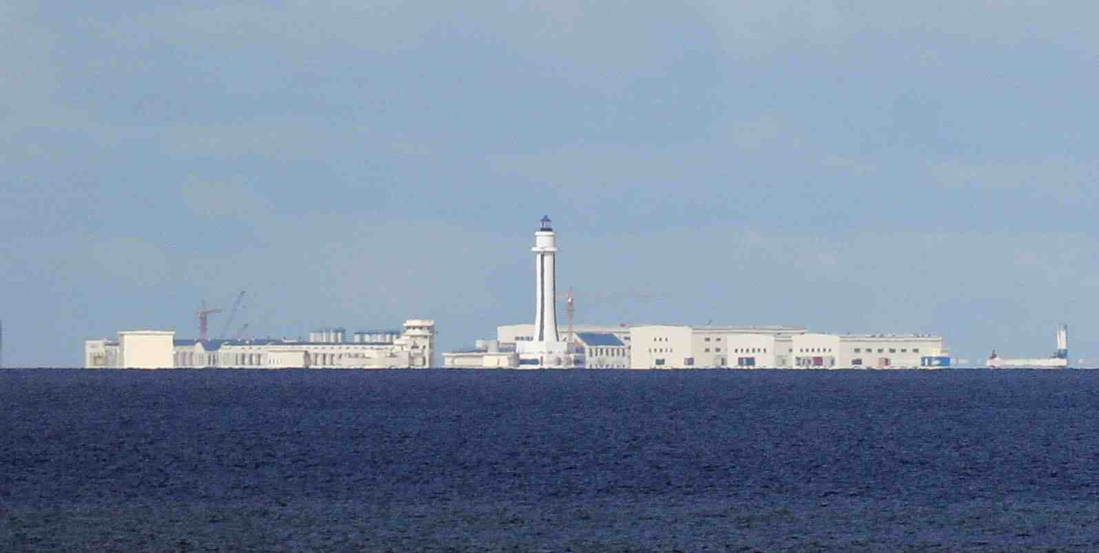 FILE PHOTO: Chinese structures are pictured at the disputed Spratlys in South China Sea