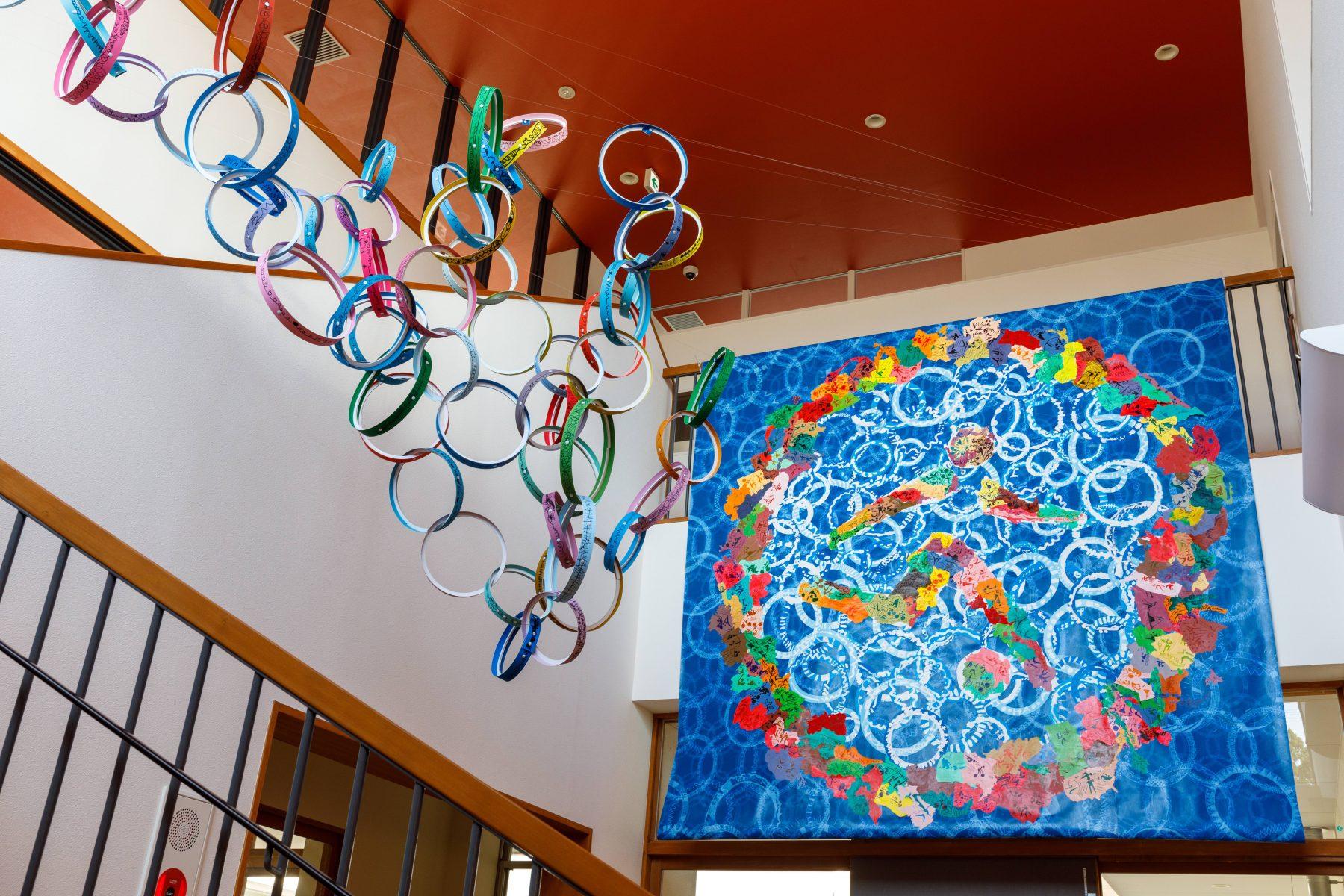 Arts Exchange Completed artwork installed at the Lumbini Kindergarten in Saiki City