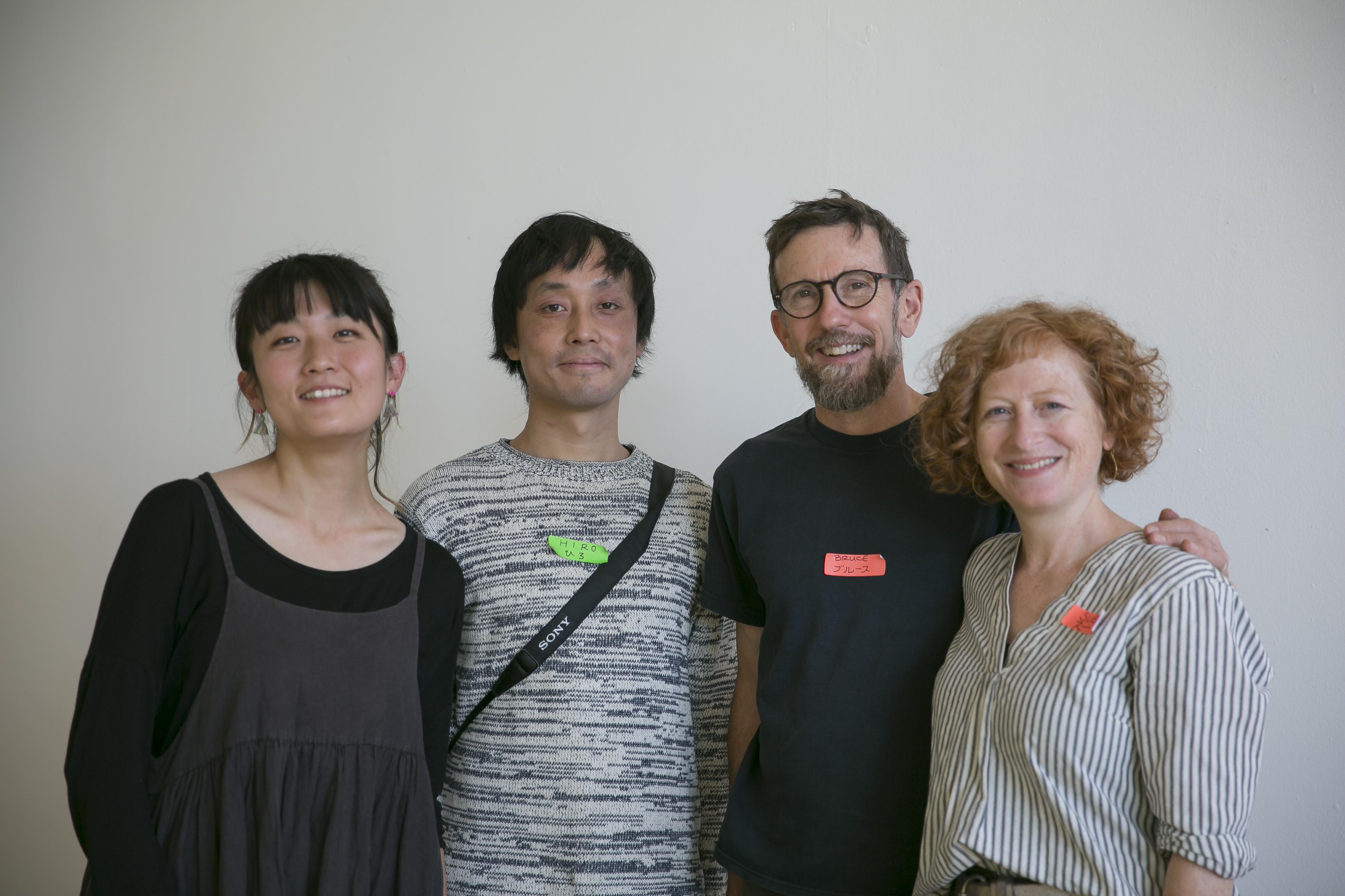 Arts Exchange Journey Itself Home team Natsuka Endo, Hiro Abe, Sue Mark and Bruce Douglas
