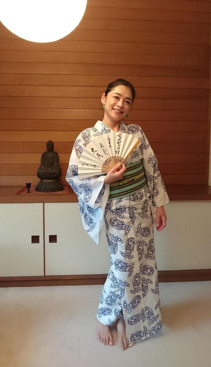 Kimono COVID 19 Amabie Pattern2