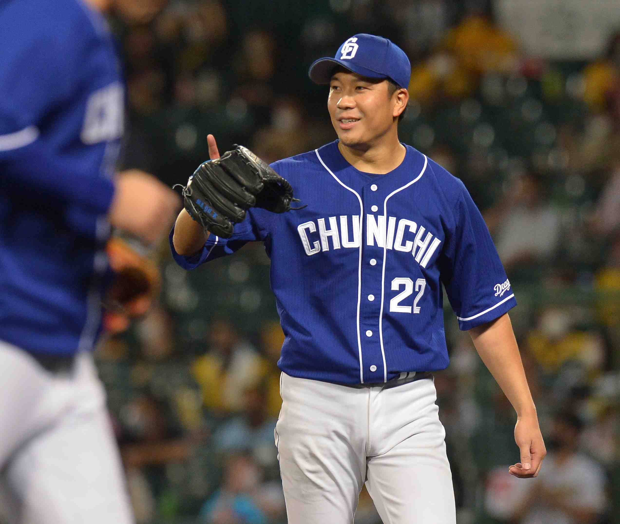 Baseball Chunichi Dragons left-handed pitcher Yudai Ono