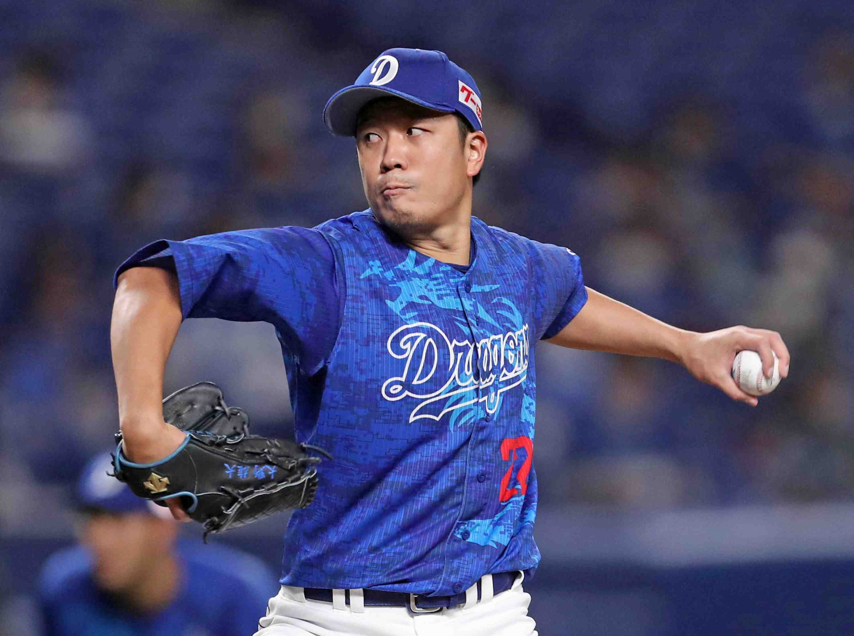Baseball Dragons pitcher Yudai Ono