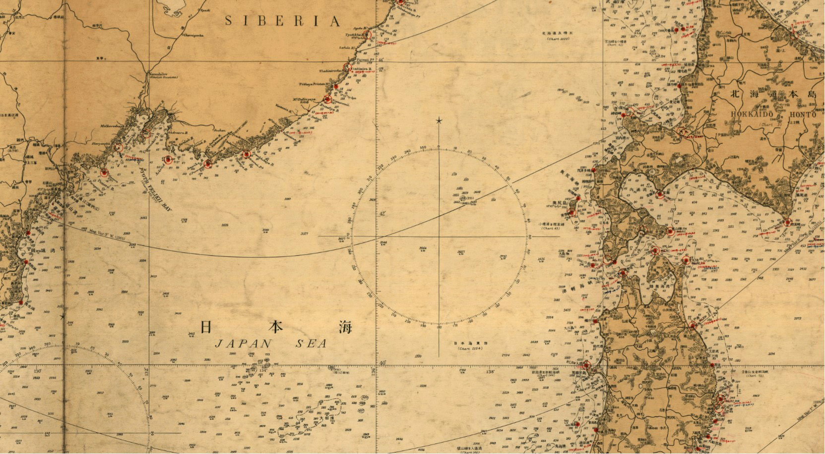 East Sea South Korean Map and Japanese Map 001