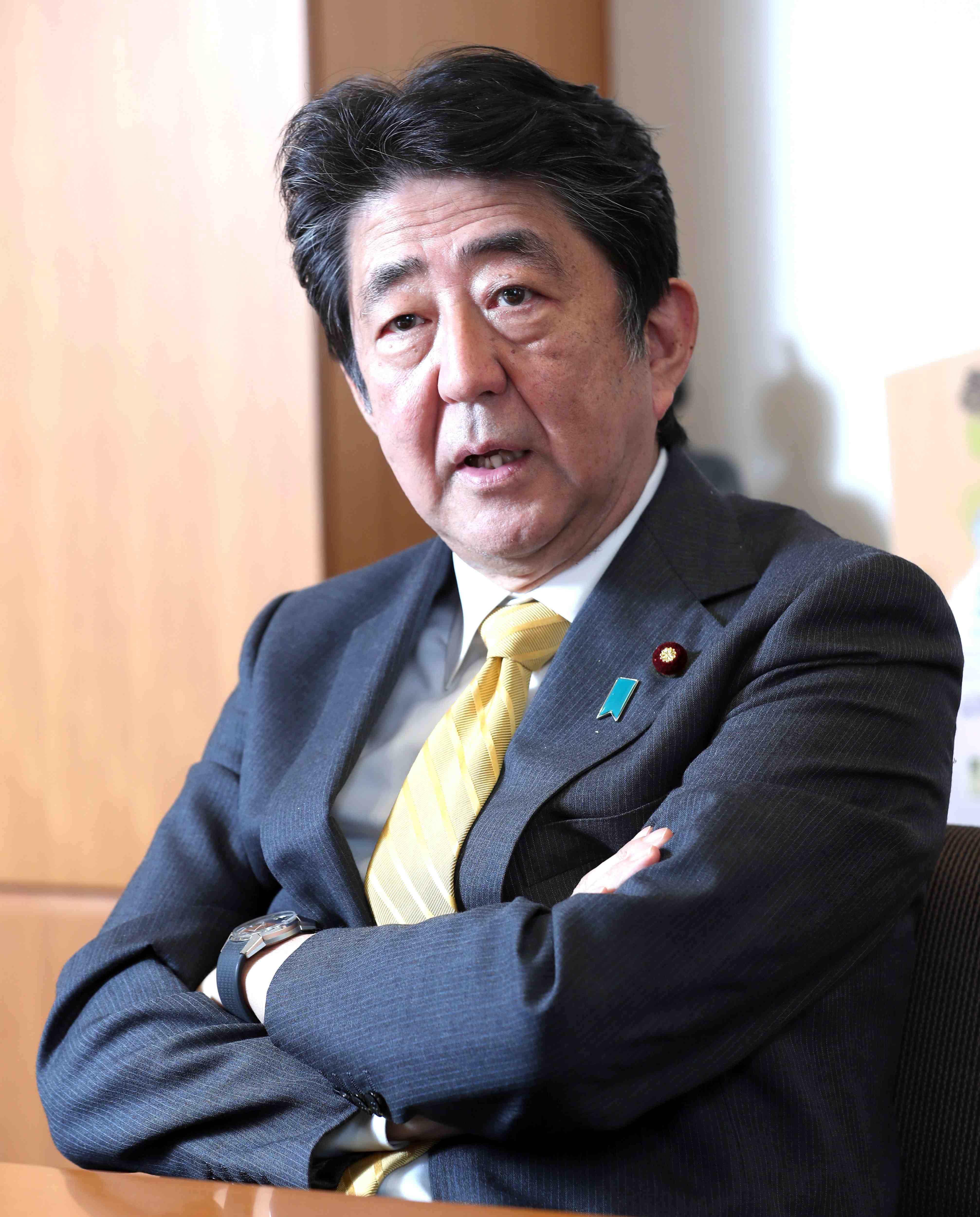 Interview with former Prime Minister Shinzo Abe 015
