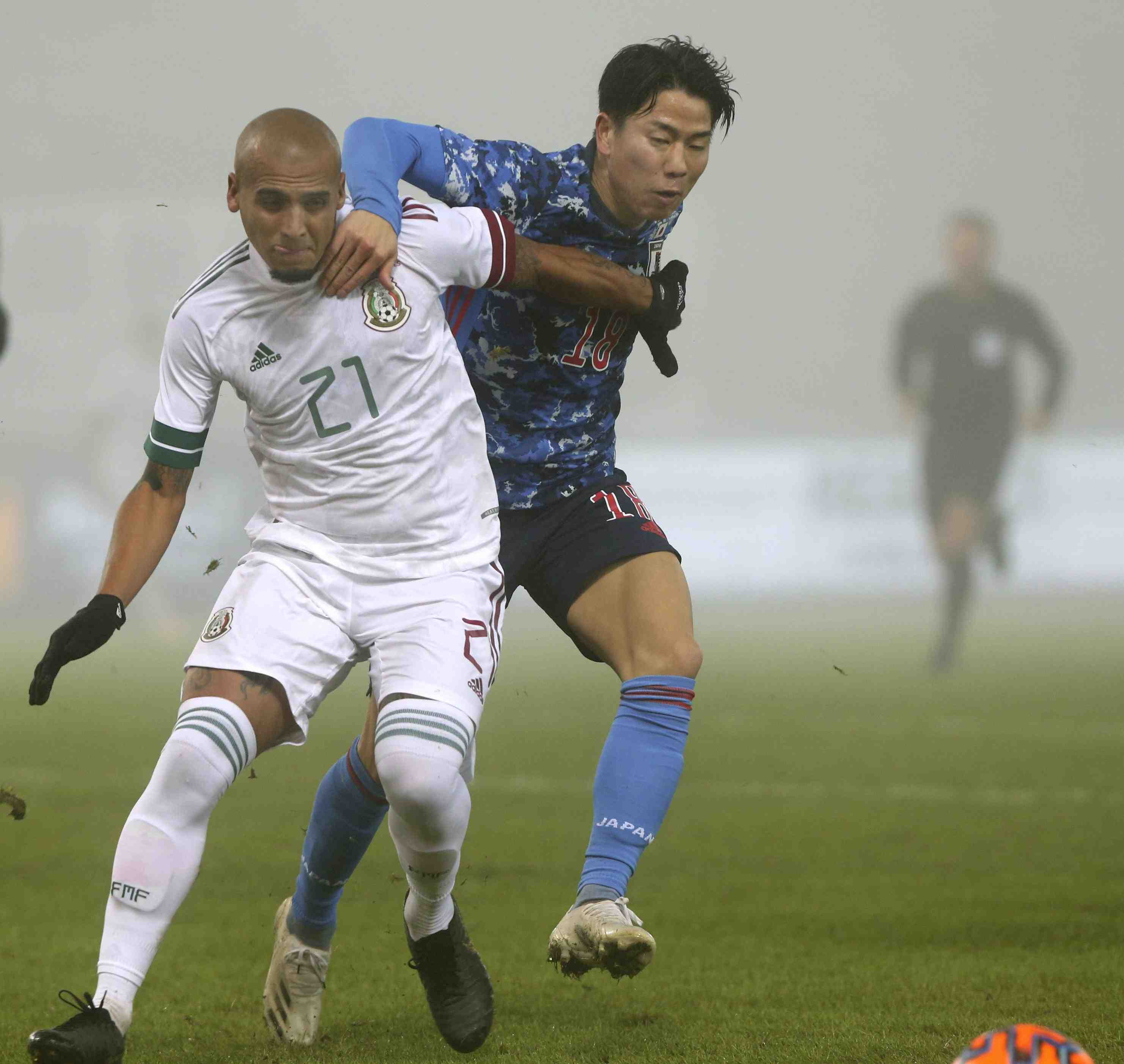 Japan men's soccer club falls 2-0 to Mexico in the second friendly in Austria on Tuesday 005