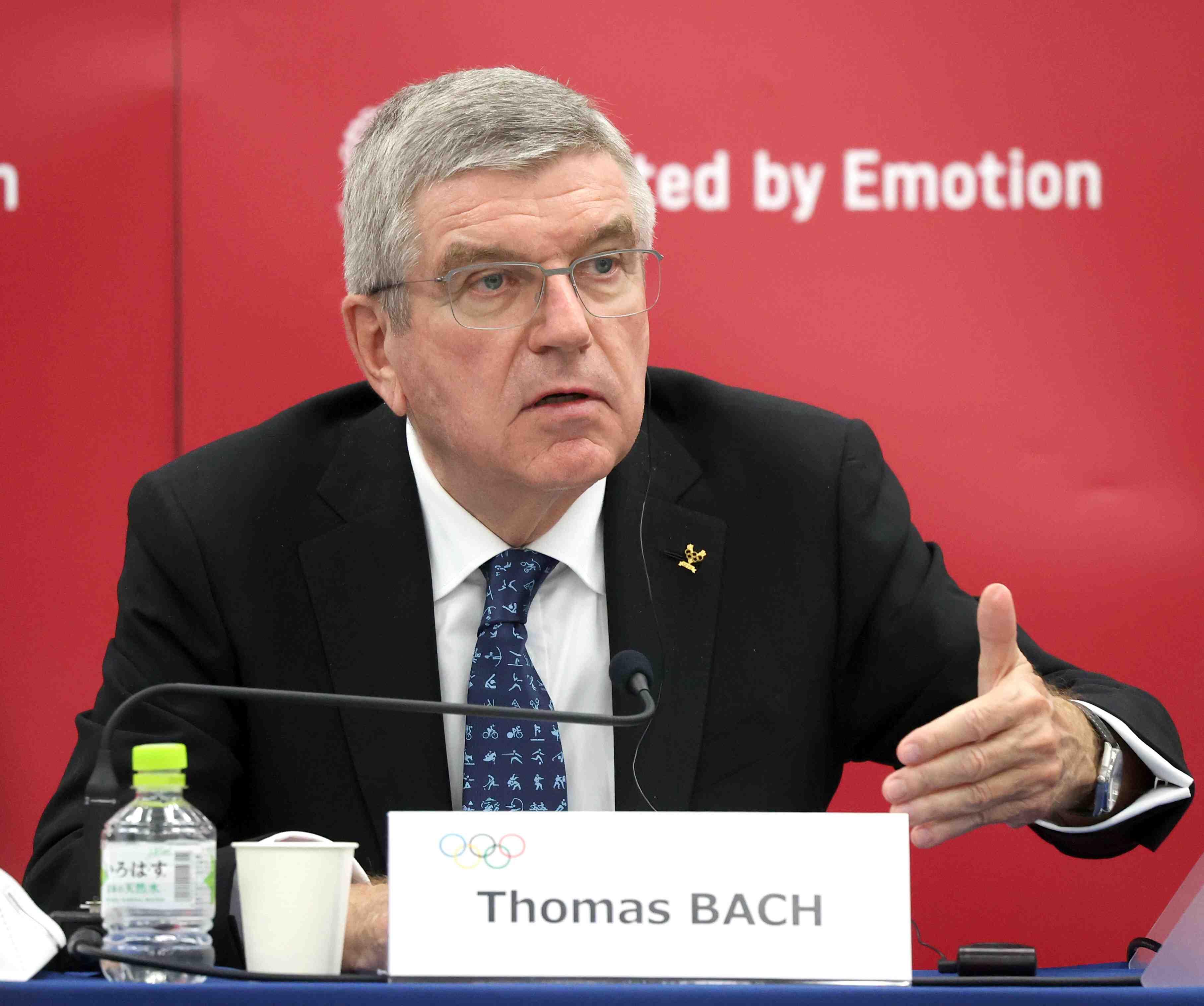 Tokyo Olympics IOC's Bach in Japan