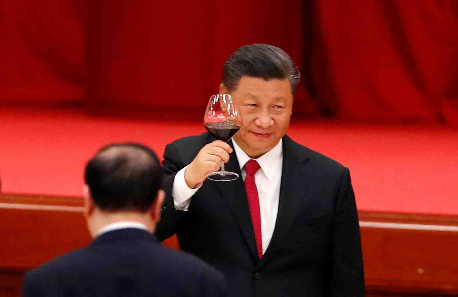 FILE PHOTO: Chinese President Xi Jinping attends the National Day reception on the eve of the 71st anniversary of the founding of the People's Republic of China in Beijing, China September 30, 2020. REUTERS/Thomas Peter/File Photo