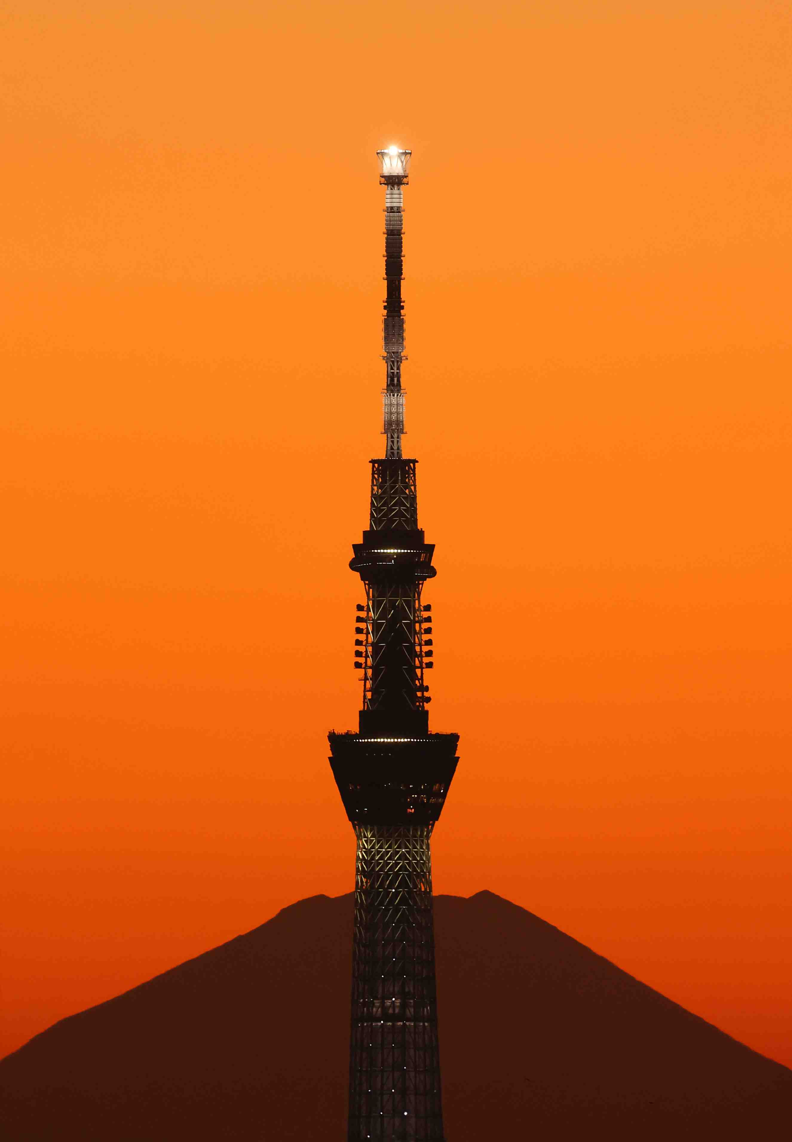 Hokusai Mount Fuji and Tokyo Skytree